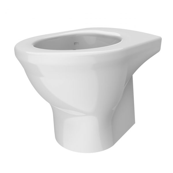 Resan V2 WC Pan - Plain Seat - Isometric